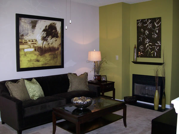 Cambridge Model Living Room Interior Design Raleigh