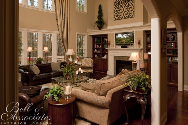 Living family rooms interior design firm raleigh nc for Family room interior