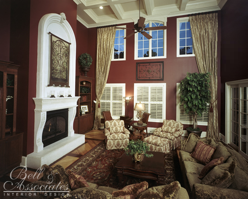 Rich Living Room : Rich Tone Living Room  Interior Design Raleigh