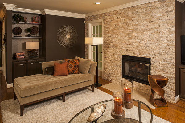 Rich Toned Family Room